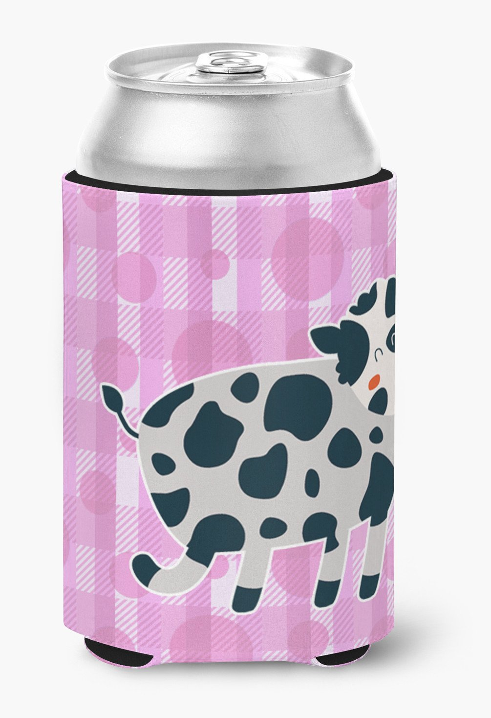 Cow on Pink Polkadots Can or Bottle Hugger BB7162CC by Caroline's Treasures