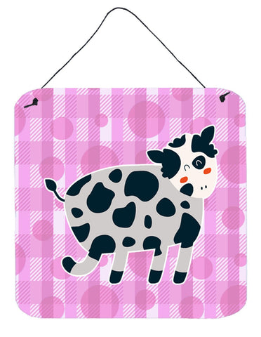 Buy this Cow on Pink Polkadots Wall or Door Hanging Prints BB7162DS66