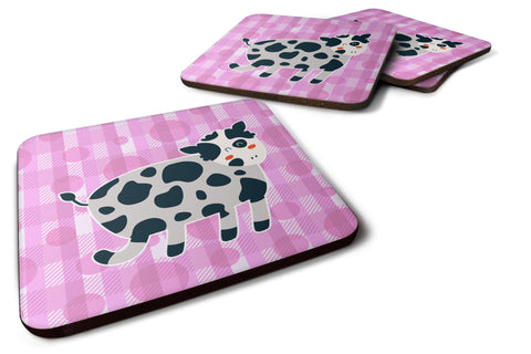 Buy this Cow on Pink Polkadots Foam Coaster Set of 4 BB7162FC