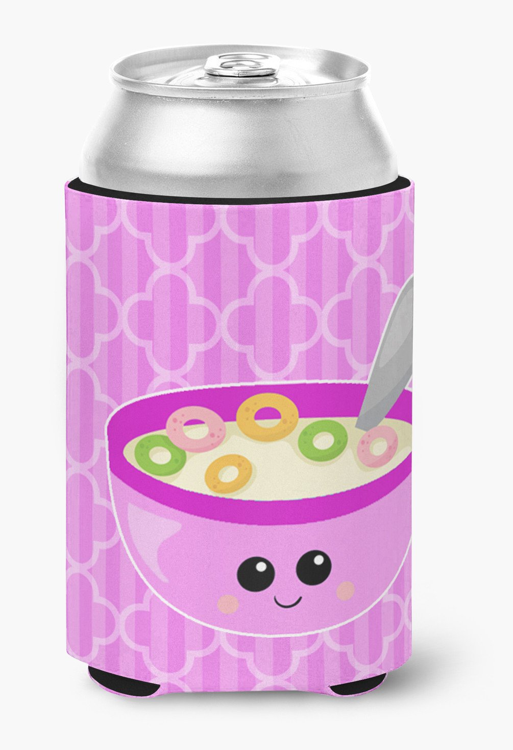 Pink Bowl of Cereal Can or Bottle Hugger BB7163CC by Caroline's Treasures