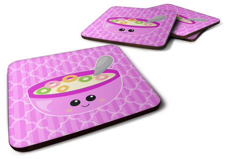 Buy this Pink Bowl of Cereal Foam Coaster Set of 4 BB7163FC