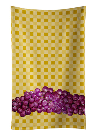 Buy this Grapes on Basketweave Kitchen Towel BB7170KTWL