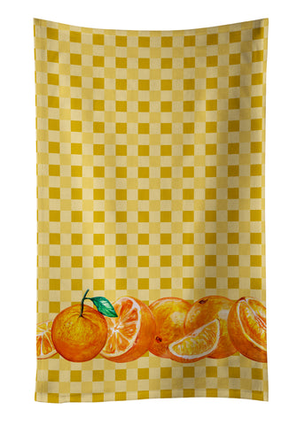 Buy this Oranges on Basketweave Kitchen Towel BB7177KTWL