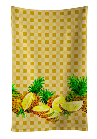 Buy this Pineapples on Basketweave Kitchen Towel BB7180KTWL