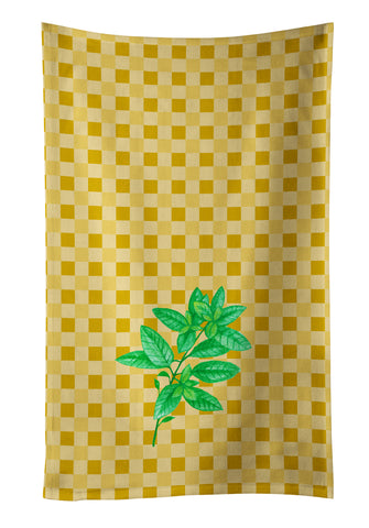 Buy this Basil on Basketweave Kitchen Towel BB7184KTWL