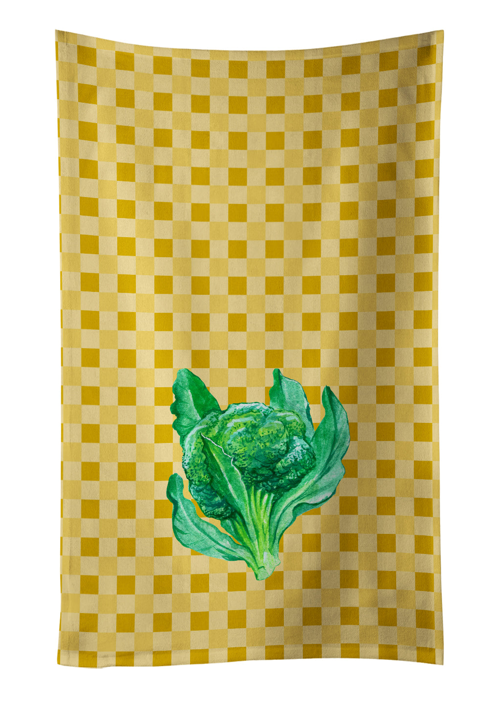 Broccoli on Basketweave Kitchen Towel BB7186KTWL by Caroline's Treasures