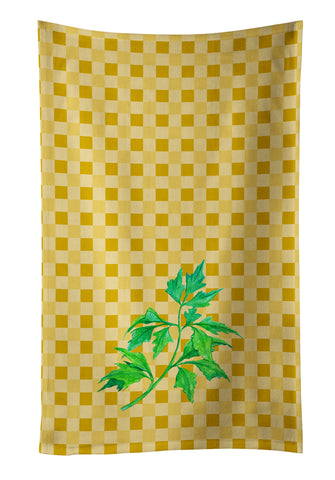 Buy this Celery on Basketweave Kitchen Towel BB7192KTWL