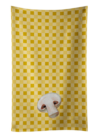 Buy this Champignon Mushroom on Basketweave Kitchen Towel BB7193KTWL