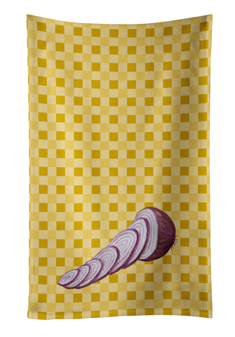 Buy this Red Onion on Basketweave Kitchen Towel BB7211KTWL