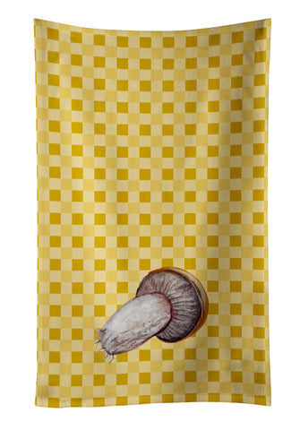 Buy this Rotkappe Mushroom on Basketweave Kitchen Towel BB7212KTWL