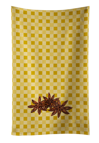 Buy this Star Anise on Basketweave Kitchen Towel BB7213KTWL