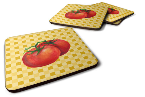 Buy this Tomato on Basketweave Foam Coaster Set of 4 BB7215FC