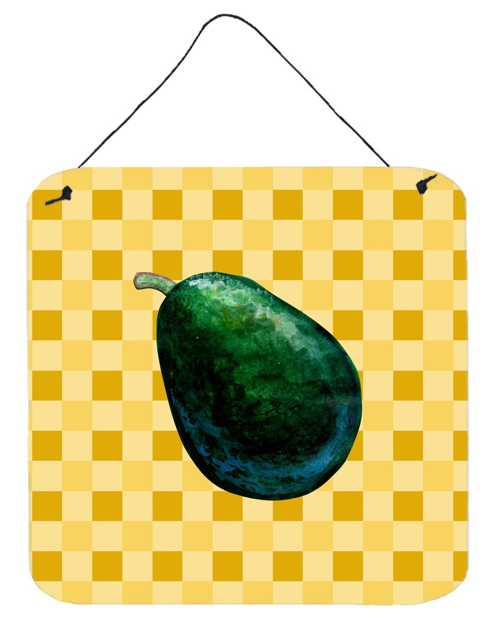 Whole Avacado on Basketweave Wall or Door Hanging Prints BB7220DS66 by Caroline's Treasures