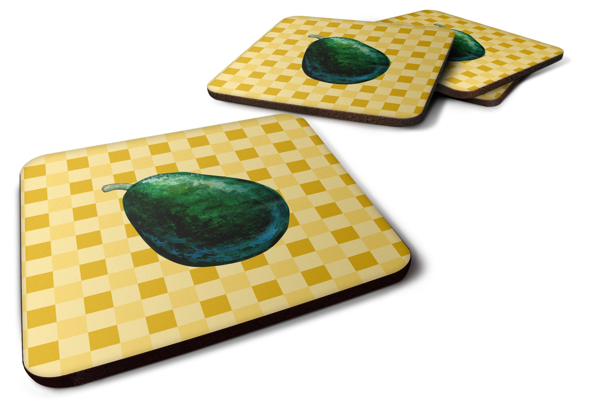 Buy this Whole Avacado on Basketweave Foam Coaster Set of 4 BB7220FC