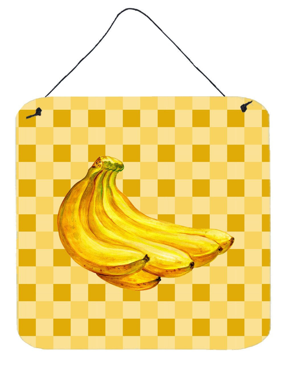 Banana Bunch on Basketweave Wall or Door Hanging Prints BB7222DS66 by Caroline's Treasures