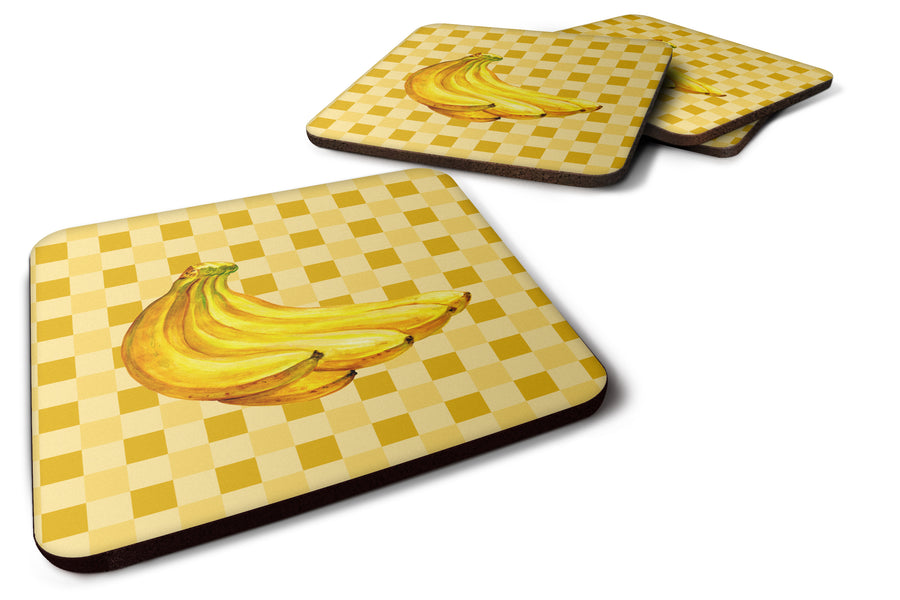 Buy this Banana Bunch on Basketweave Foam Coaster Set of 4 BB7222FC