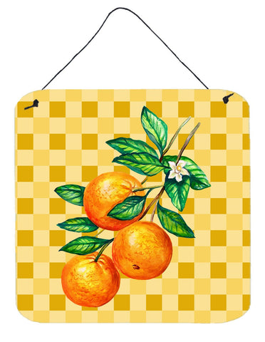 Buy this Oranges on Branch on Basketweave Wall or Door Hanging Prints BB7238DS66