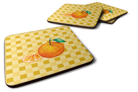Buy this Oranges and Slice on Basketweave Foam Coaster Set of 4 BB7239FC