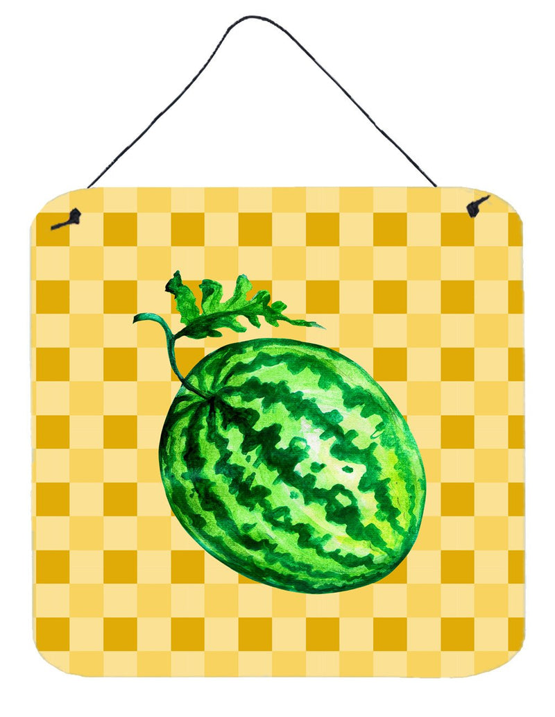 Buy this Whole Watermelon on Basketweave Wall or Door Hanging Prints BB7252DS66