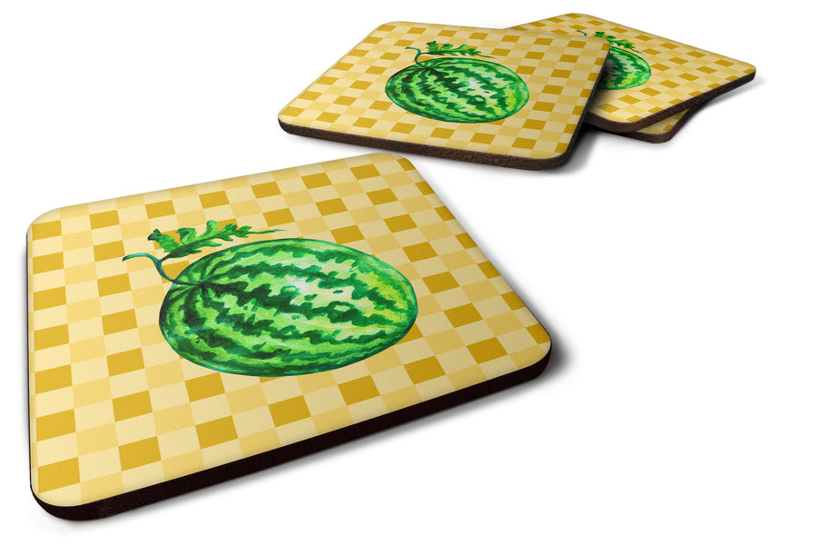 Buy this Whole Watermelon on Basketweave Foam Coaster Set of 4 BB7252FC