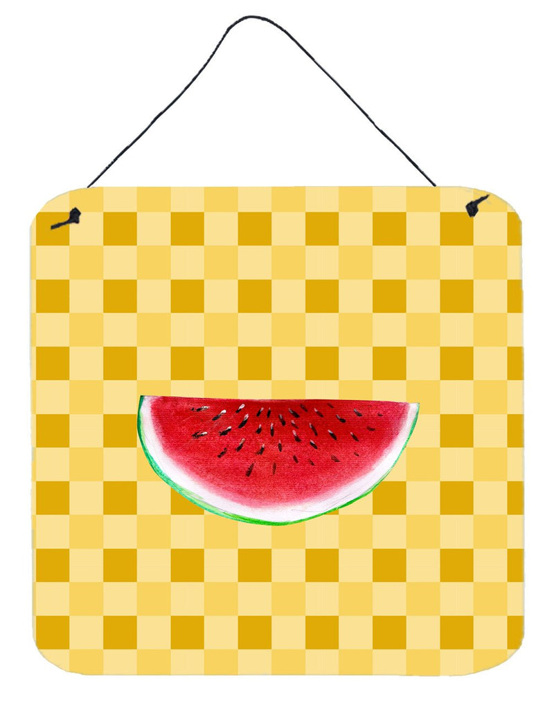 Buy this Sliced Watermelon on Basketweave Wall or Door Hanging Prints BB7253DS66