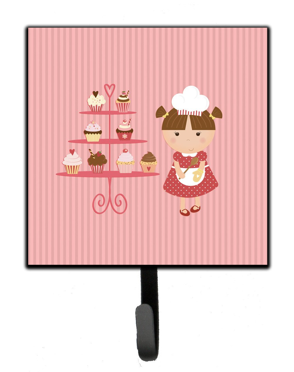 Buy this Cupcake Baker Brunette Pink Leash or Key Holder BB7254SH4