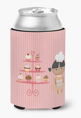 Buy this Cupcake Baker African American Pink Can or Bottle Hugger BB7257CC
