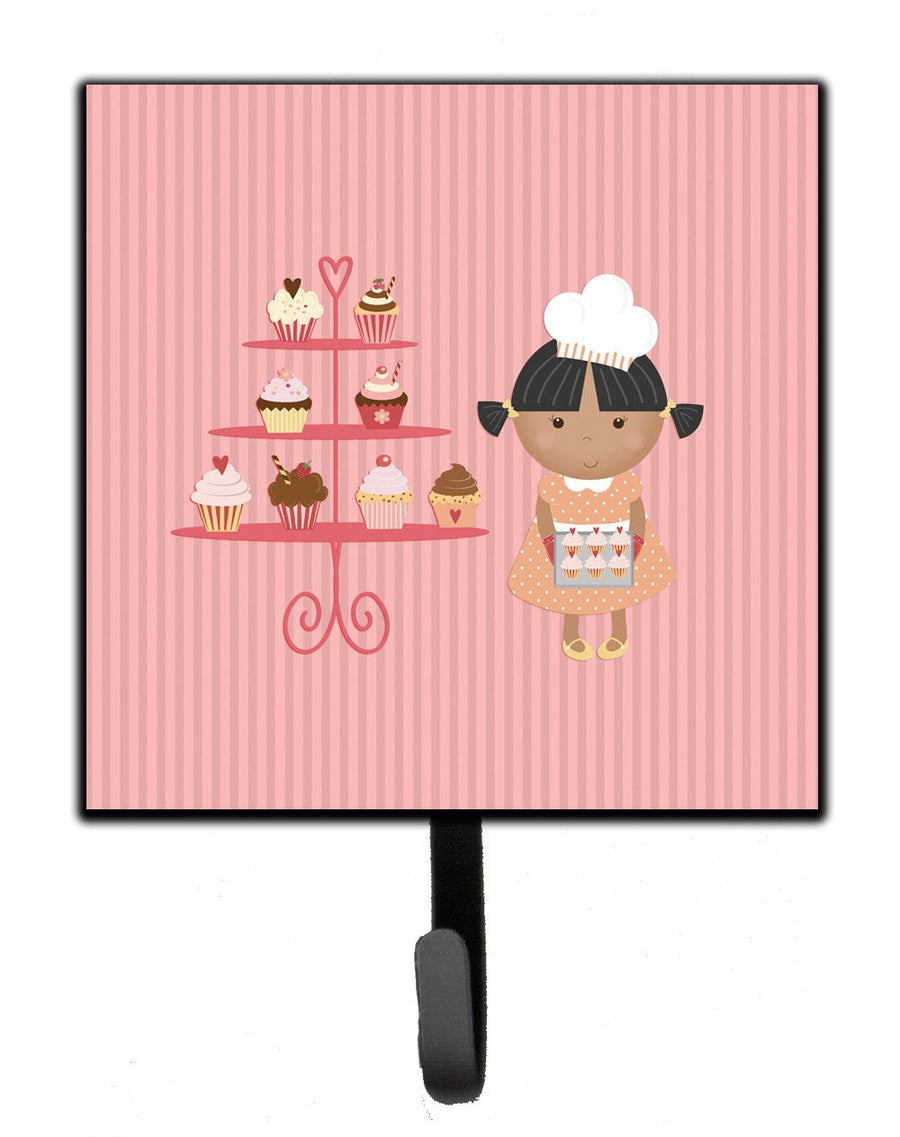 Buy this Cupcake Baker African American Pink Leash or Key Holder BB7257SH4