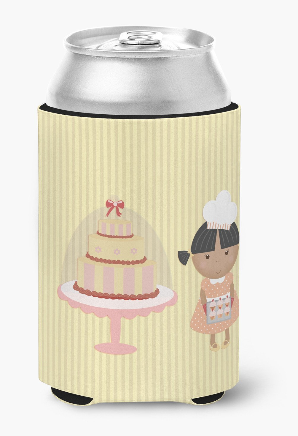Cake Baker African American Yellow Can or Bottle Hugger BB7258CC by Caroline's Treasures