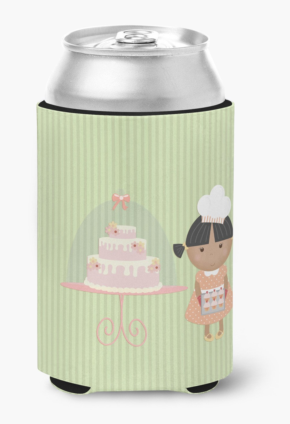 Cake Baker African American Green Can or Bottle Hugger BB7259CC by Caroline's Treasures