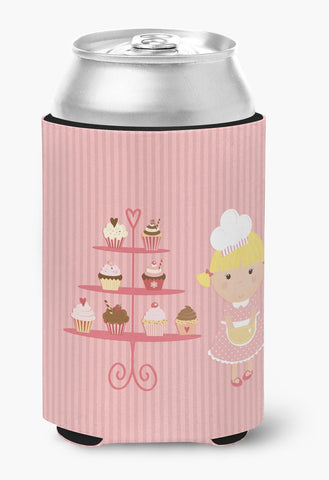 Buy this Cupcake Baker Blonde Pink Can or Bottle Hugger BB7260CC