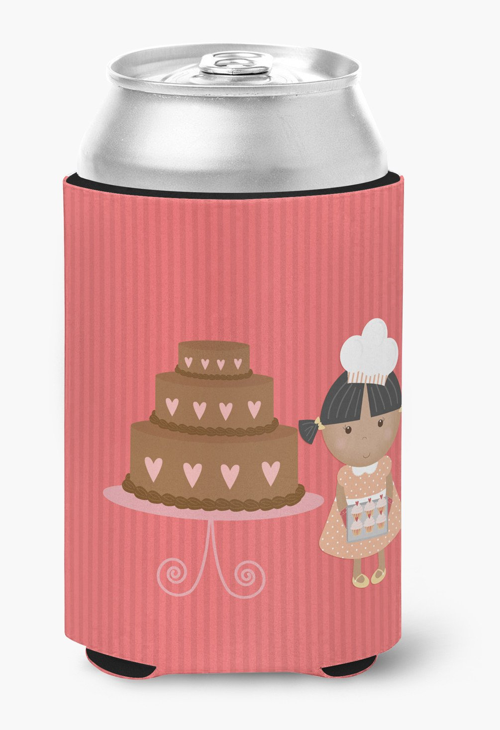 Buy this Valentine's Cake Baker African American Can or Bottle Hugger BB7264CC