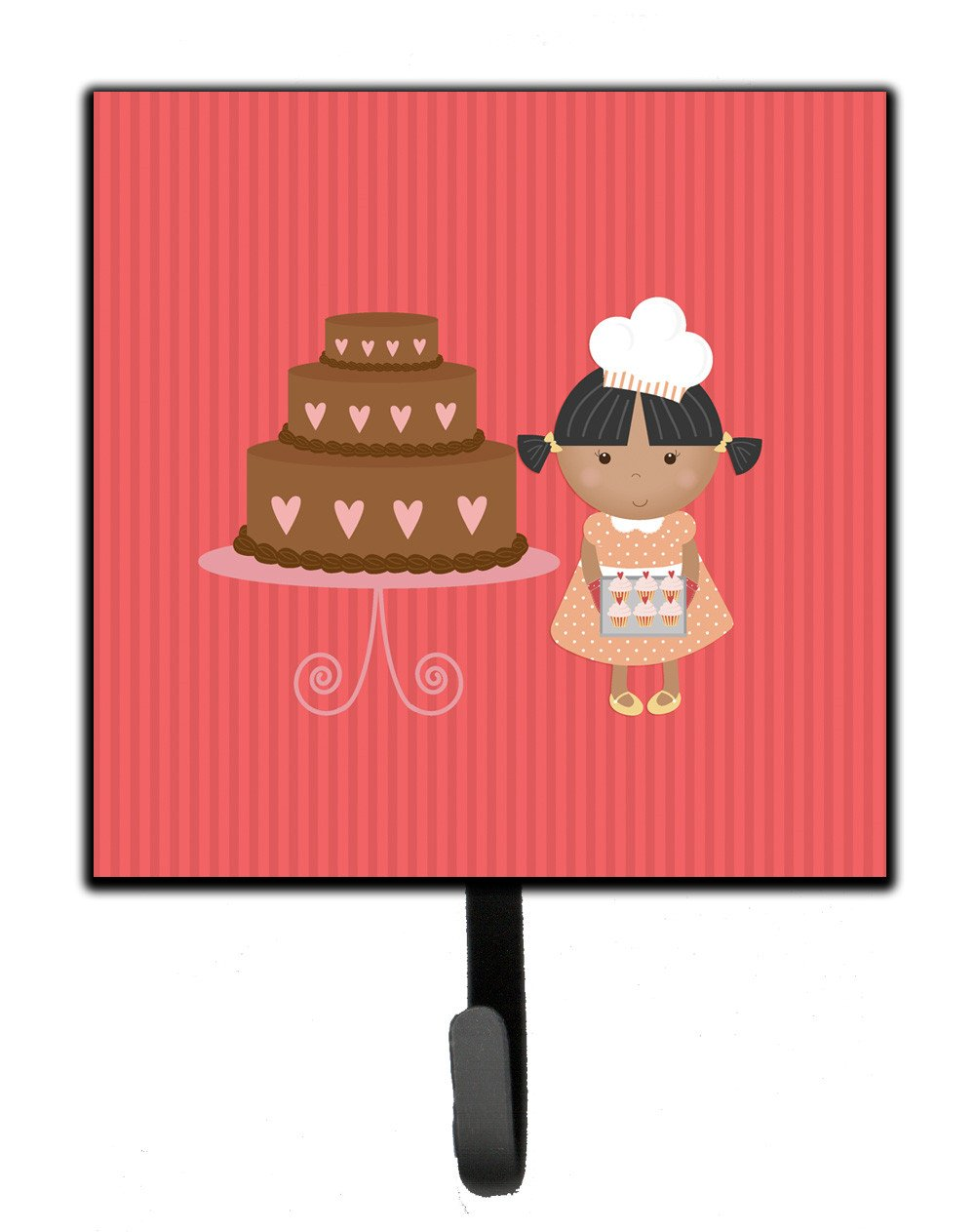 Buy this Valentine's Cake Baker African American Leash or Key Holder BB7264SH4