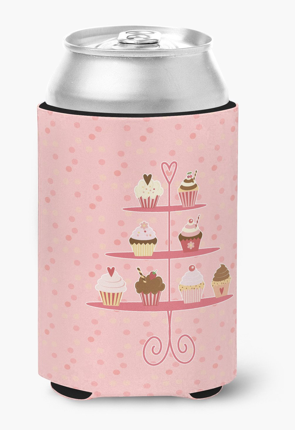Cupcakes 3 Tier Pink Can or Bottle Hugger BB7274CC by Caroline's Treasures