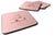 Buy this Cupcakes 3 Tier Pink Foam Coaster Set of 4 BB7274FC