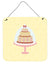 3 Tier Cake on Yellow Wall or Door Hanging Prints BB7290DS66 by Caroline's Treasures