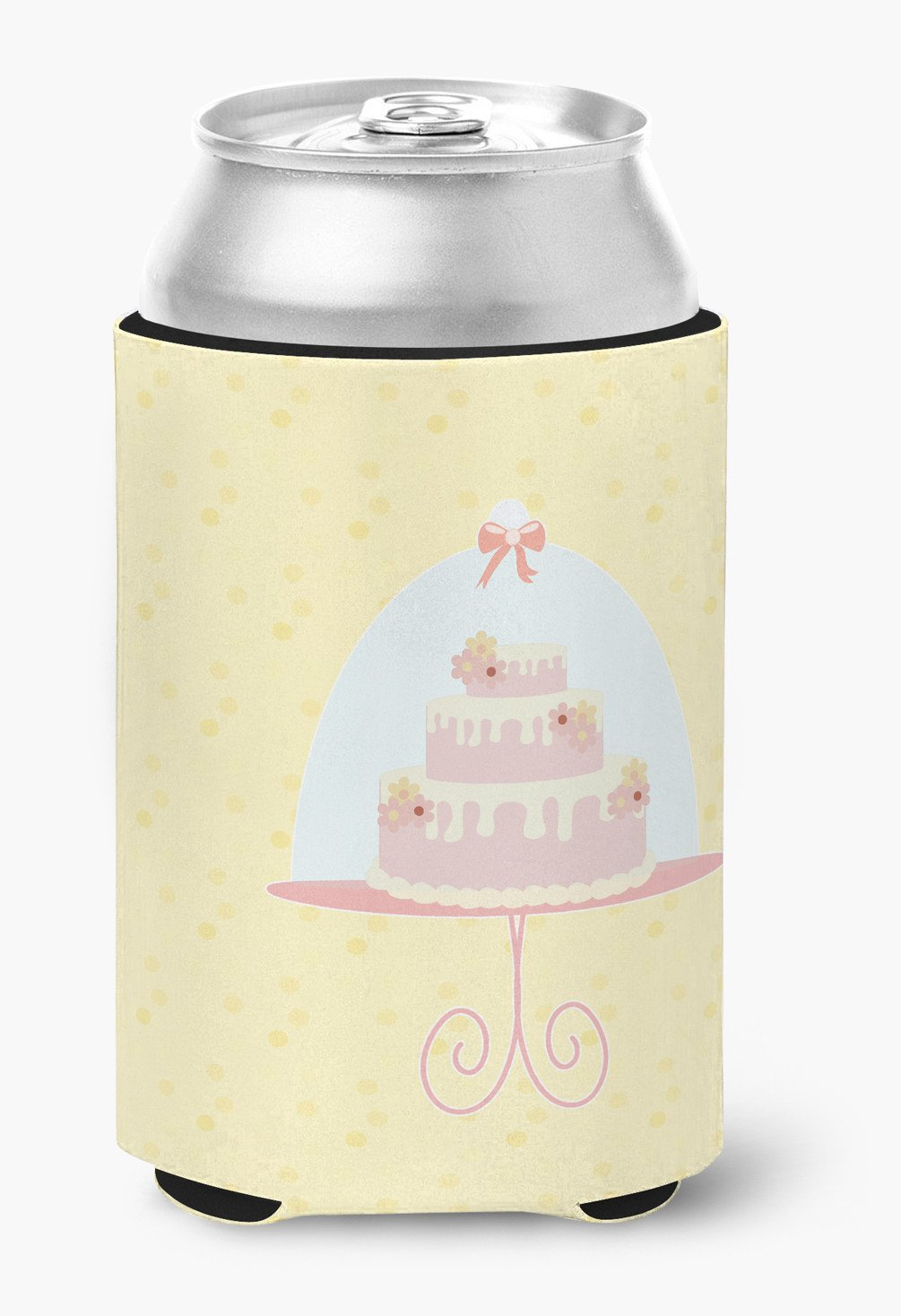 3 Tier Cake on Yellow Can or Bottle Hugger BB7291CC by Caroline's Treasures