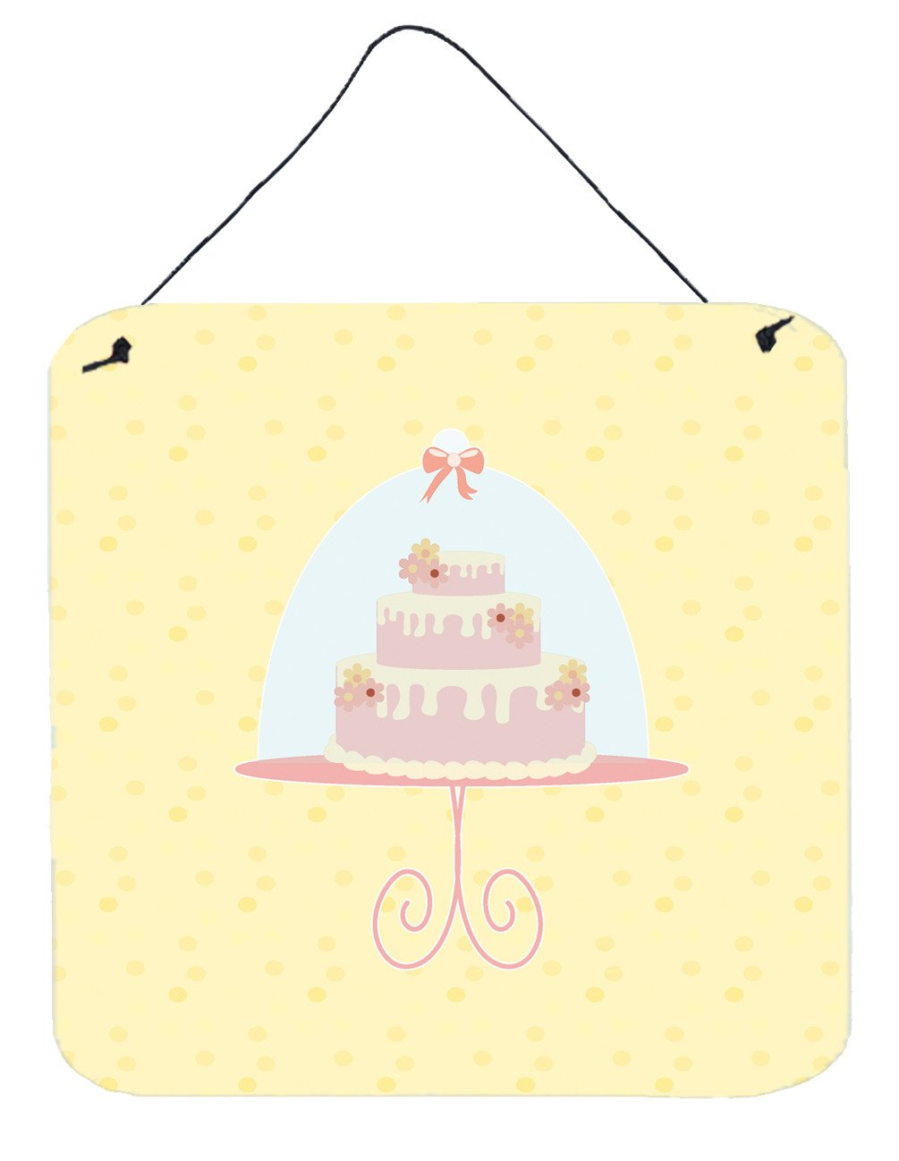 3 Tier Cake on Yellow Wall or Door Hanging Prints BB7291DS66 by Caroline's Treasures