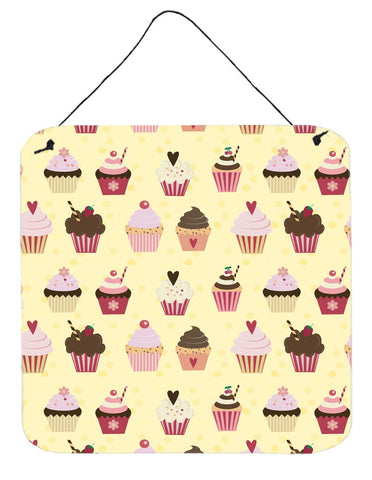 Buy this Cupcakes on Yellow Wall or Door Hanging Prints BB7295DS66