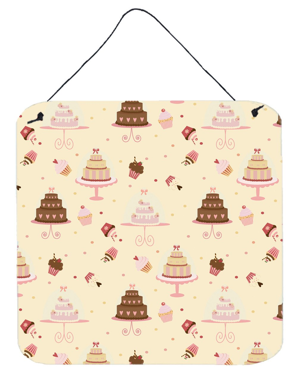 Cakes and Cupcakes Wall or Door Hanging Prints BB7310DS66 by Caroline's Treasures