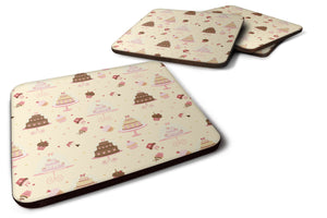Buy this Cakes and Cupcakes Foam Coaster Set of 4 BB7310FC