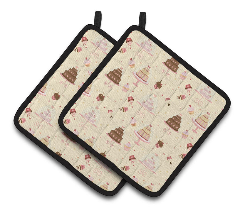 Buy this Cakes and Cupcakes Pair of Pot Holders BB7310PTHD
