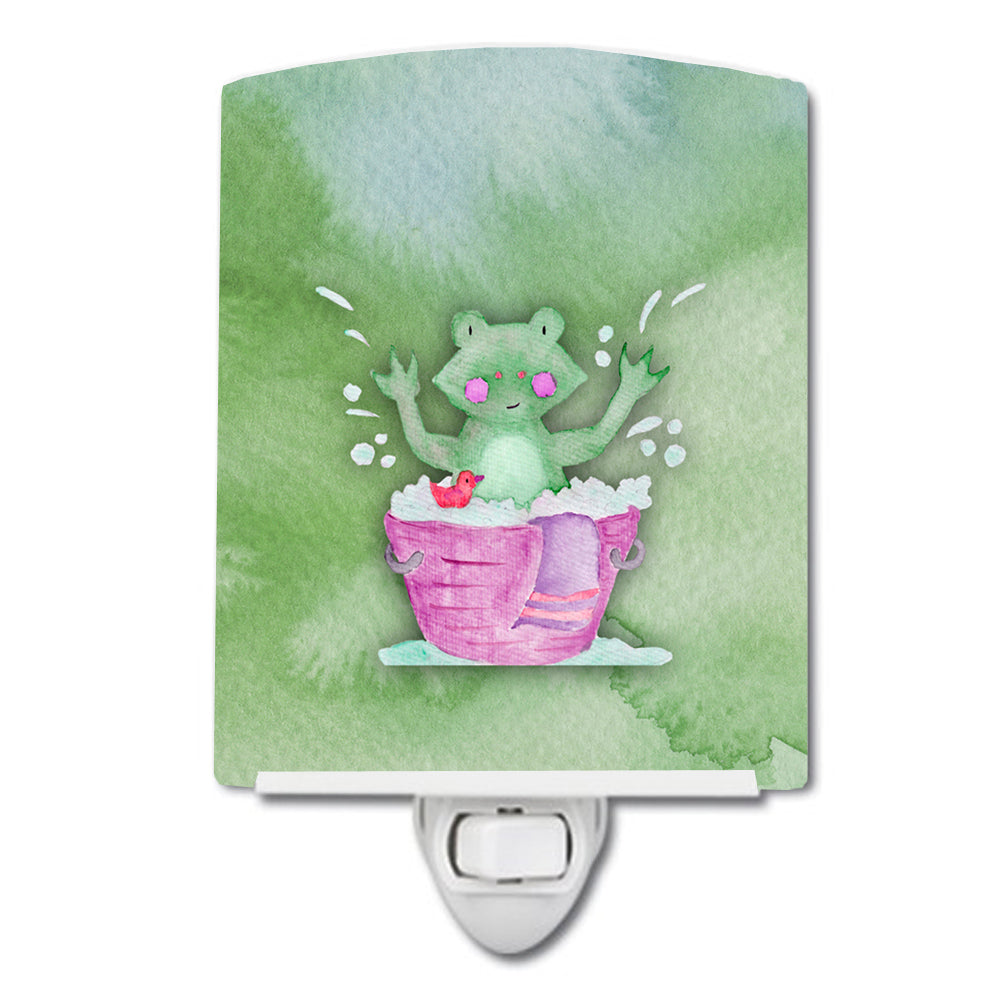 Buy this Frog Bathing Watercolor Ceramic Night Light BB7343CNL