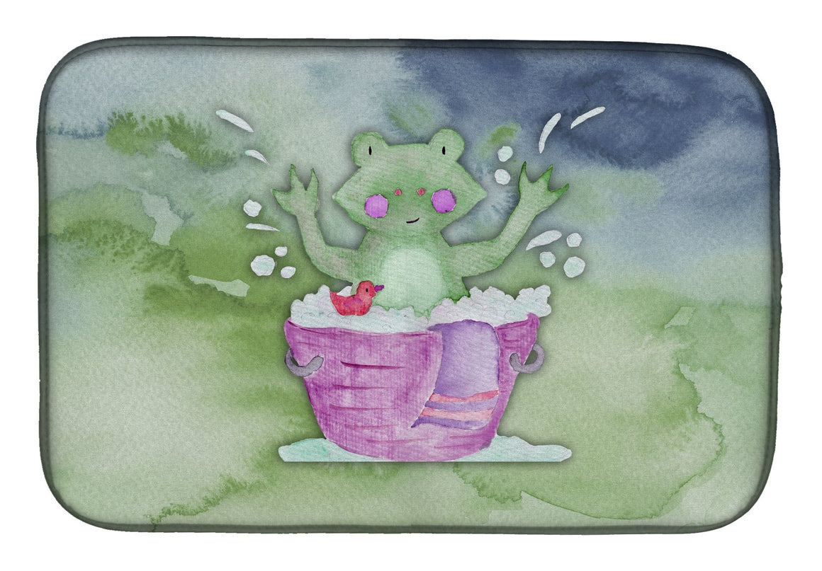 Buy this Frog Bathing Watercolor Dish Drying Mat BB7343DDM