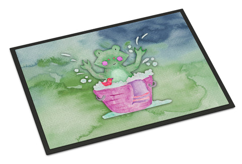 Buy this Frog Bathing Watercolor Indoor or Outdoor Mat 18x27 BB7343MAT