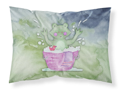 Buy this Frog Bathing Watercolor Fabric Standard Pillowcase BB7343PILLOWCASE