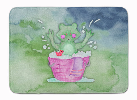 Buy this Frog Bathing Watercolor Machine Washable Memory Foam Mat BB7343RUG