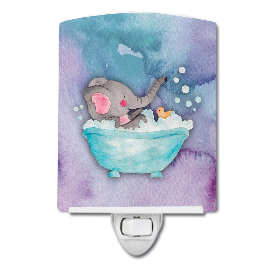 Buy this Elephant Bathing Watercolor Ceramic Night Light BB7346CNL