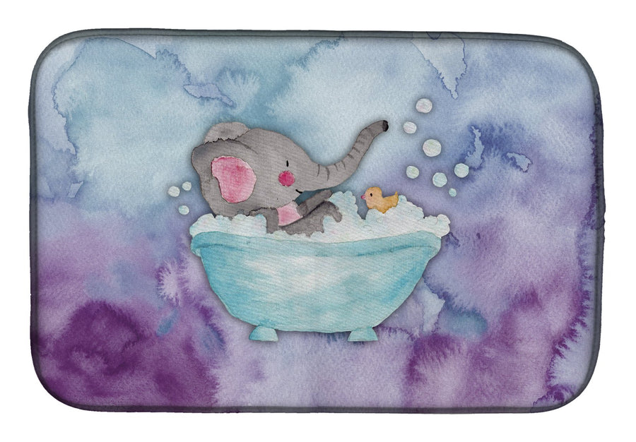 Buy this Elephant Bathing Watercolor Dish Drying Mat BB7346DDM