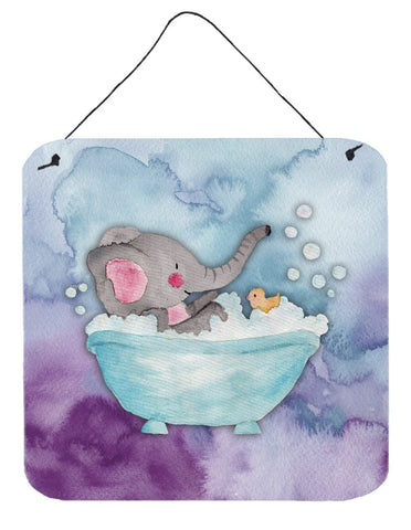 Buy this Elephant Bathing Watercolor Wall or Door Hanging Prints BB7346DS66